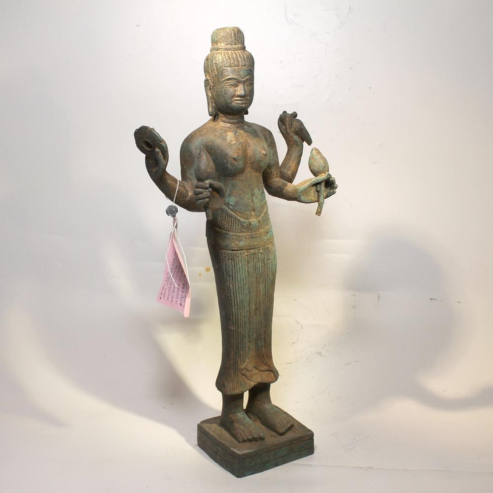 khmer bronze g ttin uma skuklptur gro kambodscha asien angkor figur buddha gro ebay. Black Bedroom Furniture Sets. Home Design Ideas