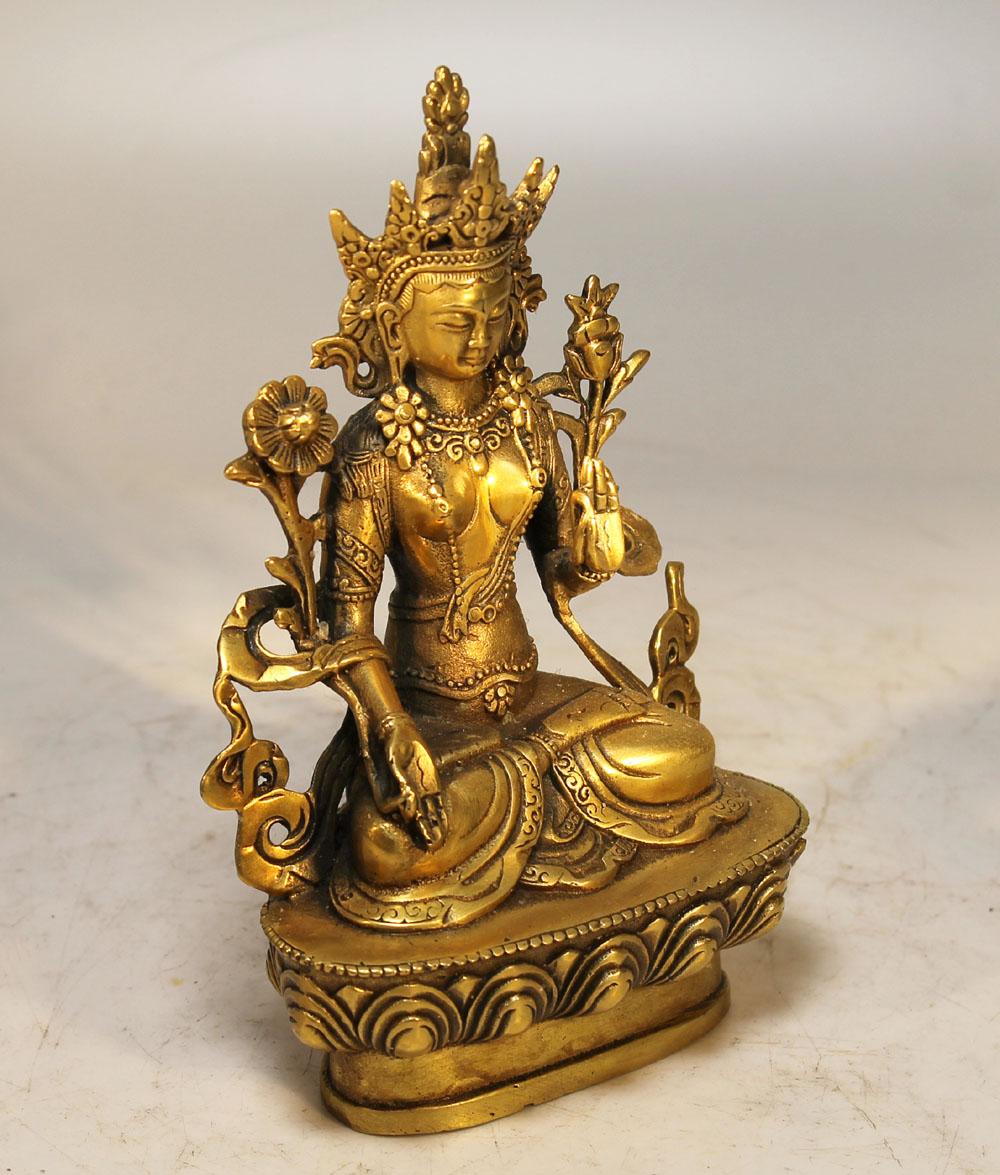 Weisse tara tibet skulptur 21 jh messing white tara for Buddha figur