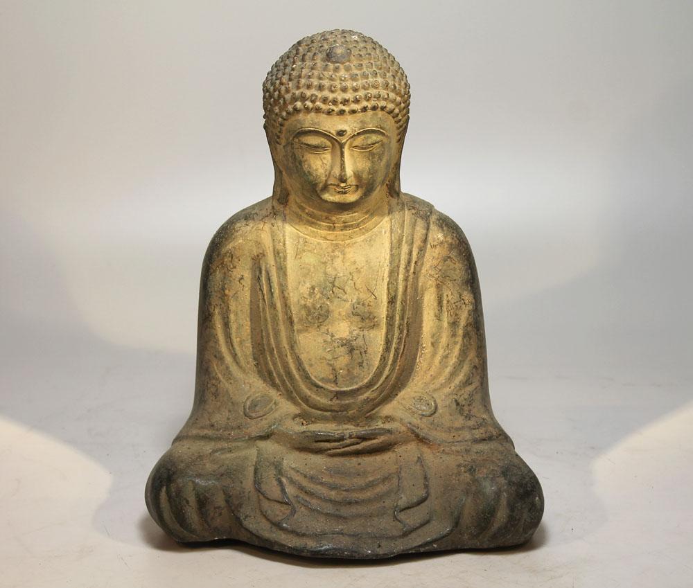 Japan kamakura buddha bronze 20 jh skulptur asien figur for Buddha figur