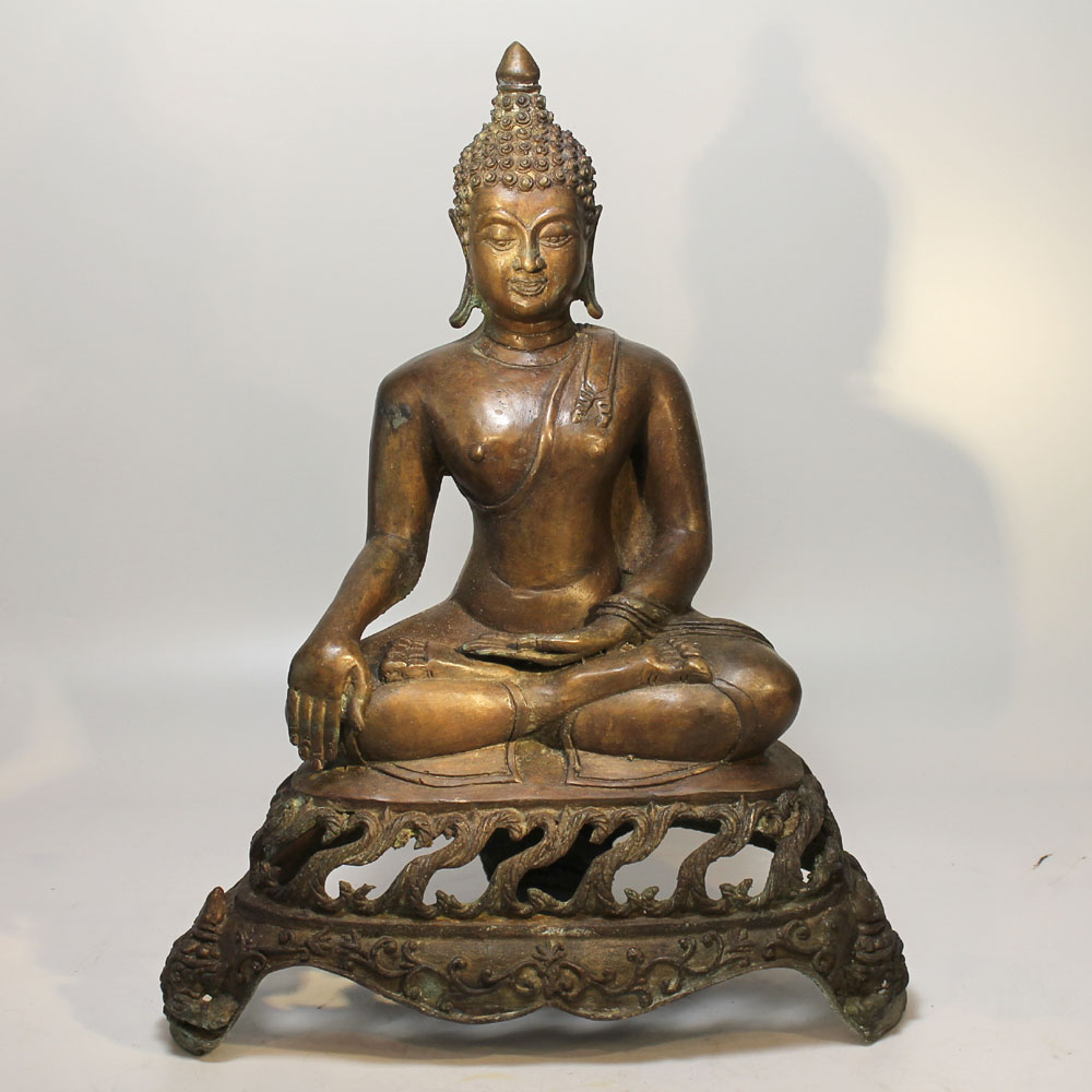 gro lanna siam buddha 20 jh bronze skulptur elefanten thron asien kunst figur ebay. Black Bedroom Furniture Sets. Home Design Ideas