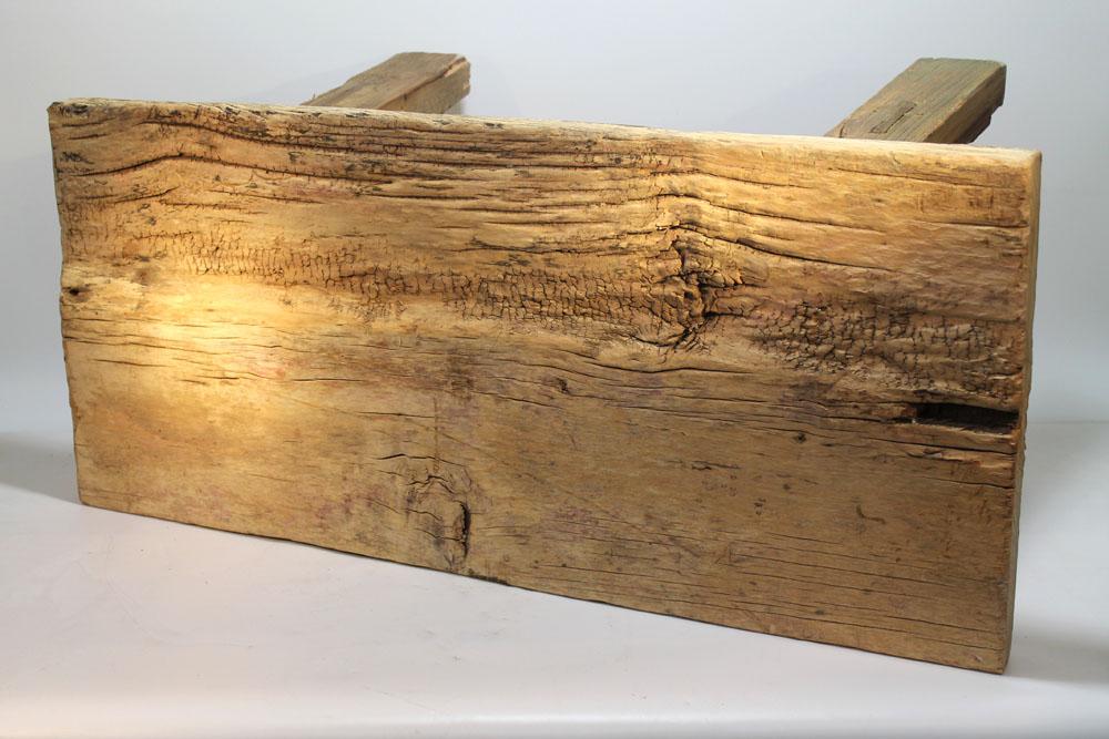 nic duysens original old wood bank hocker purismus. Black Bedroom Furniture Sets. Home Design Ideas
