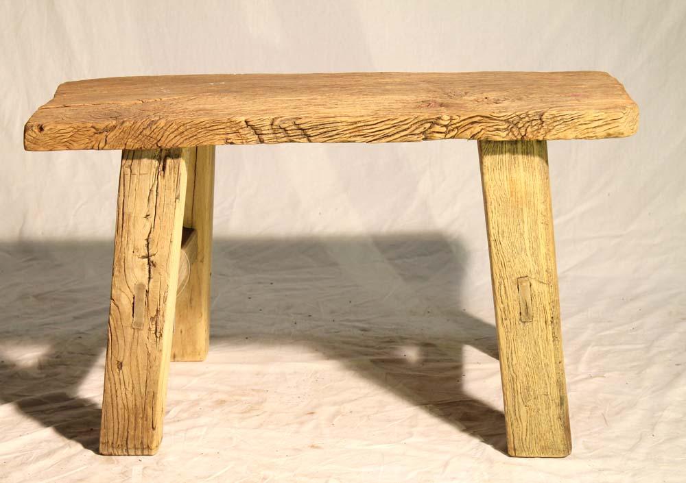 original rustic old wood sideboard bank gro tisch massiv holz hocker ebay. Black Bedroom Furniture Sets. Home Design Ideas